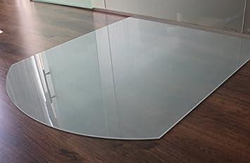 Milchglas Glasbodenplatte Funkenschutzplatte Kaminplatte Glas Ofen Platte Bodenplatte Kaminofenplatte Unterlage SB85//110 Milchglas Segmentbogen 85x110cm