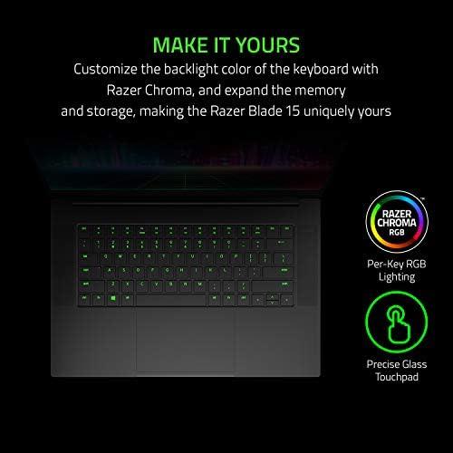 Razer Blade 15 Base Gaming Laptop 2020: Intel Core i7-10750H 6-Core, NVIDIA GeForce GTX 1660 Ti, 15.6″ FHD 1080p 120Hz, 16GB RAM, 256GB SSD, CNC Aluminum, Chroma RGB Lighting, Thunderbolt 3, Black 41ctx YNTML