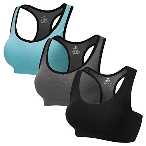 STENFFY Racerback Sports Bras Activewear Medium High Impact For Fitness Workout Yoga...