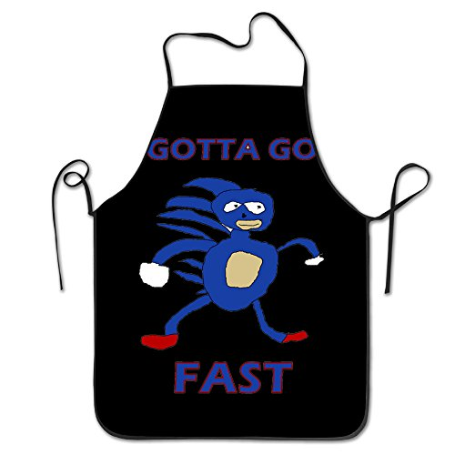 Funny Bib Kitchen Apron Sanic Gotta Go Fast Sonic The Hedgehog Cooking Durable (2)