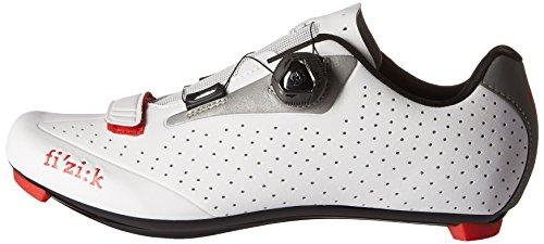 Fizik R5 Uomo Boa Chaussures De Vélo De Route Blanc / Gris Clair