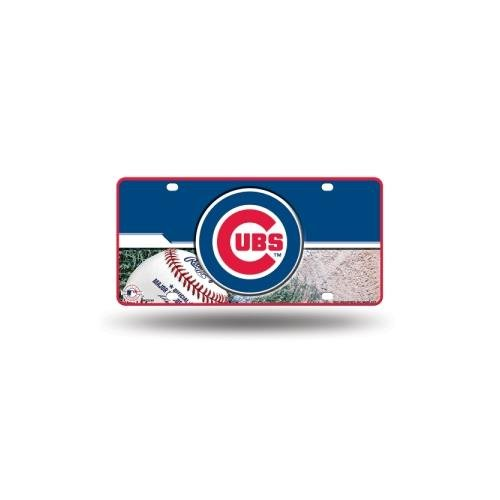 MLB Chicago Cubs Metal Auto Tag