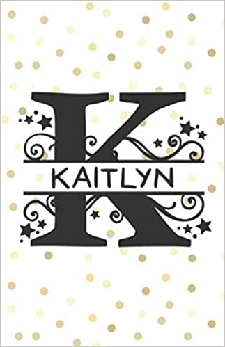 Kaitlyn 5 5 X 8 5 Dot Grid Blank Journal With Monogram Letter K And Personalized Name Belle Journals 9781723852626 Books