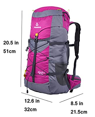 Hiking Daypack Camping Backpack with Rain Cover for Outdoor Climbing Travel 50L
