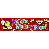 Eureka Classroom Banner, We Are Worker Bees, 12 x 45 Inches (849713) - DISCONTINUED by Manufacturer