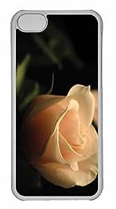 iPhone 5C Case, Personalized Custom Cream Rose for iPhone 5C PC Clear Case