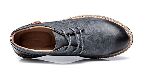 TDA Mens Lace Standard Blue Business Up Oxford Penny Leather Work W64HnWZ1d