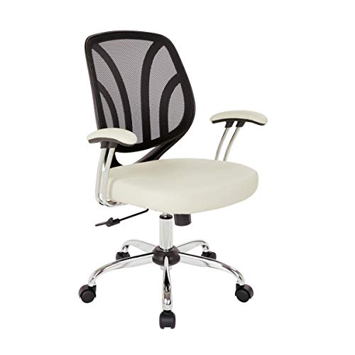 Chair Back Screen Task (Ave Six EM69203C-U28 Screen Back Office Task Chair, Cream)