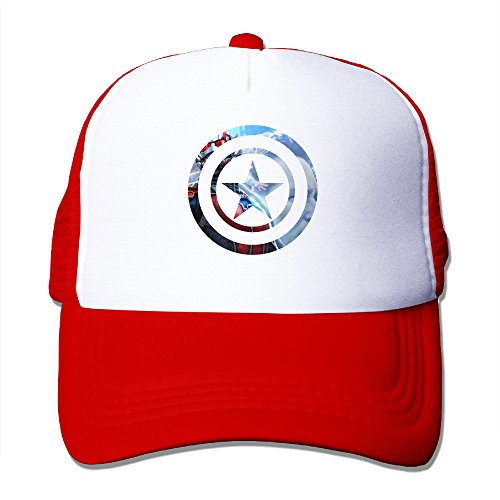 [Elnory America Movie Captain Fashion Baseball Cap Red] (Peter Pan Cast Costumes)