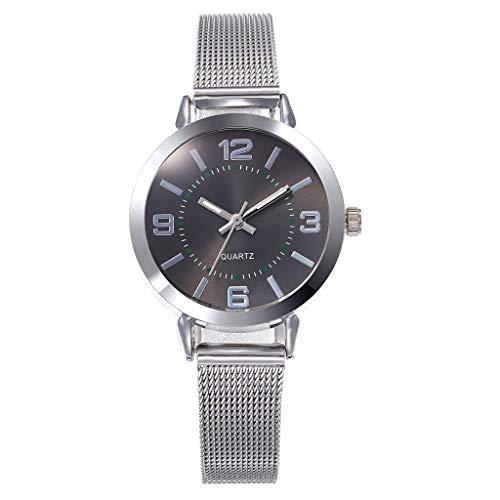 (Mesh Bracelet Watch LYN Star❀♪Creative Simplicity Women Watch Mesh Band Elegant Watches Ladies Business Wristwatch)