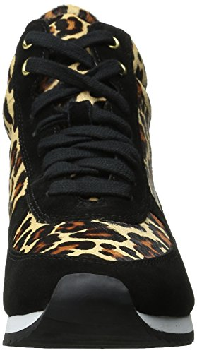 Sneaker Di Moda Vita Femminile Bella Enice Nera / Pony Leopardato
