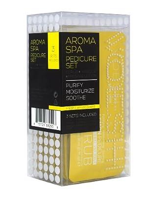 VOESH New York - Lemon Spa Pedicure 3-in-1 Disposable Kit - 3 Sets