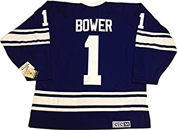 the latest 1681e f0de3 Johnny Bower Toronto Maple Leafs 1967 CCM vintage jersey (X ...