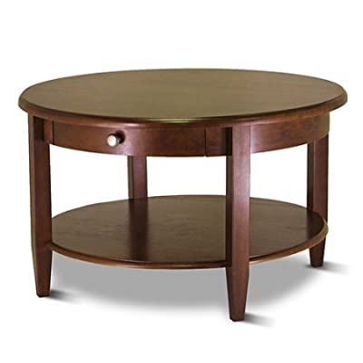 winsome wood concord round coffee table. Black Bedroom Furniture Sets. Home Design Ideas