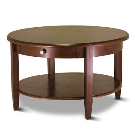 Concord Round Coffee Table (Antique Walnut)