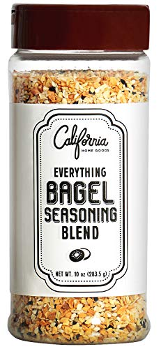 XL Bottle Everything Bagel Seasoning Blend 10 Ounce Bagel Allspice, Sesame Seasoning Spice Shaker, Delicious Blend of Sea Salt and Spices Sesame Garlic Powder Onion Flakes, Multi Seasoning Shaker ()
