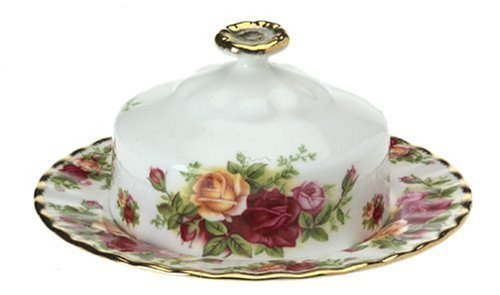 Royal Doulton Charms (Royal Albert Old Country Roses Round Covered Butter Dish by Royal Doulton)