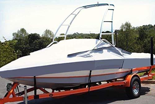 Color: Grey. 8oz Custom Fit Boat Cover Correct Craft AIR NAUTIQUE 211 W/Flight Control 1 Tower W/O SWPF W/Strap System 2004-2010