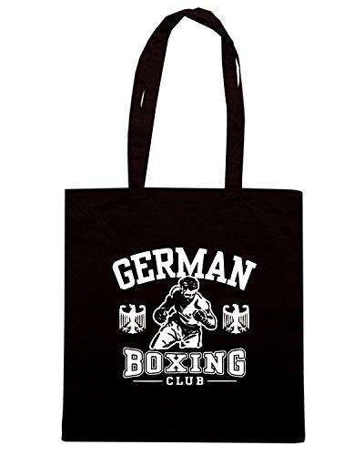 T-Shirtshock - Bolsa para la compra TBOXE0081 german boxing Negro