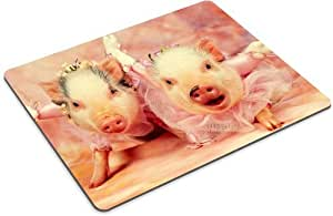 Pig Hogs Grunters Animals Pets Mouse Pads Customized Made to Order Support Ready 9 7/8 Inch (250mm) X 7 7/8 Inch (200mm) X 1/16 Inch (2mm) High Quality Eco Friendly Cloth with Neoprene Rubber Luxlady Mouse Pad Desktop Mousepad Laptop Mousepads Comfortab
