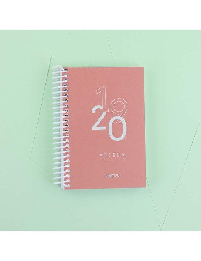 Casterli - Agenda Escolar 2019-2020 Basic Edition - Día Página, Tamaño A6 (Azul Oscuro)
