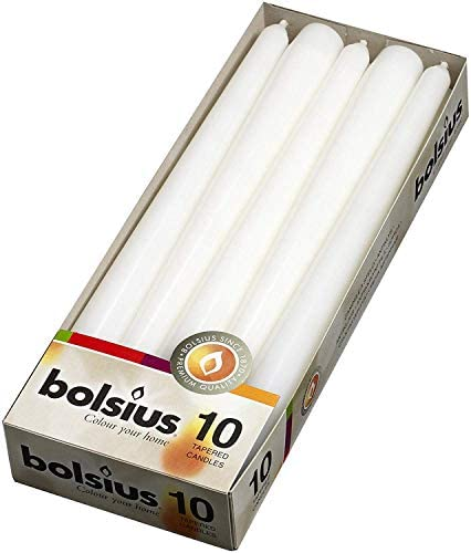 Household White Taper Candles 3//4 X 5, 10 Pack