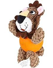 Akcesoria dla psów domowych- Lew Shape Bonding Toy Pies Bite Zabawki Edukacyjne Gra Doll Creative Pet Training Toy (jasnobrązowy)
