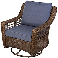 Deals on Hampton Bay Spring Haven Brown All-Weather Wicker Chair