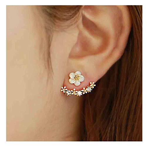 Dangles Climber - Yfe Women Earring Studs Daisy Flowers Earrings Geometry Jewelry Earrings for Women and Girls Ear Jacket Studs