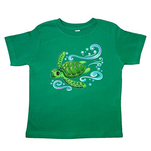 inktastic - Sea Turtle Swimming Toddler T-Shirt 3T Kelly Green (Environment Green T-shirt)