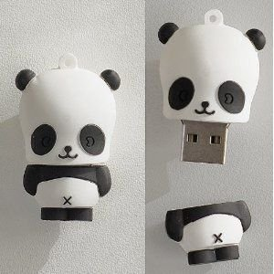 D-CLICK TM High Quality 4GB/8GB/16GB/32GB/64GB/Cool Shape USB High speed Flash Memory Stick Pen Drive Disk (8GB, Baby Panda)