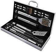 Conjunto completo de ferramentas de churrasco doméstico - 16 peças de acessórios de churrasco de aço inoxidáve