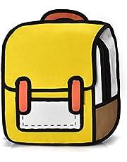 Boekentassen School Meisje Gepersonaliseerd, Creatieve Vrouwen 2D Tekening Rugzak Cartoon School Tas Tiener Meisjes Dagrugzak