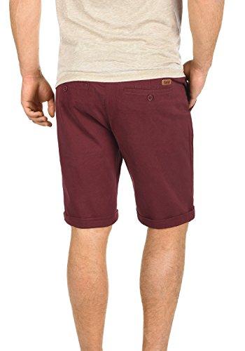 Pantalones Lamego Red Corto Bermuda De Elástico Chino fit Wine 0985 Tela Regular Para Pantalón solid Hombre wXdTxqBB