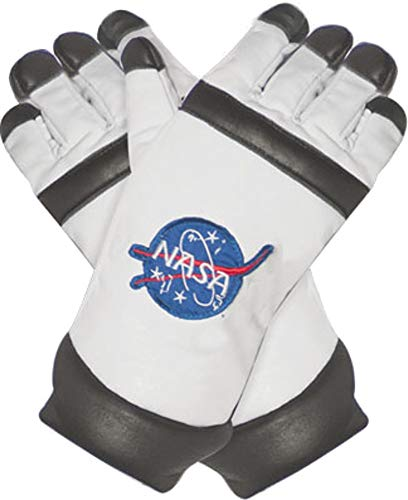 (Underwraps Kid's Children's Astronaut Gloves Costume - White Childrens Costume, White, One)