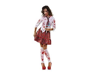 Disfrazzes - Disfraz de colegiala zombie para mujer talla m-l ...