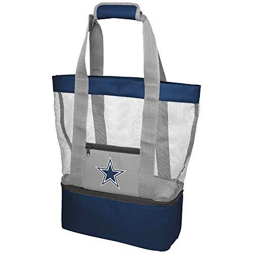 Forever Collectibles NFL Football Team Logo Mesh Cooler Beach Picnic Tote Bag Purse All Teams Option (Dallas ()
