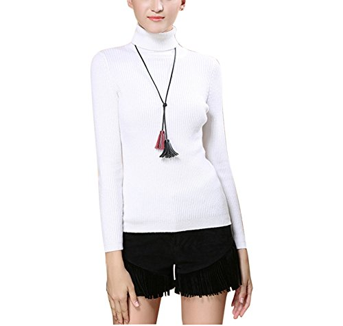 Femme Pull Col Winfon Roul Maille Laine F7ApFqa0