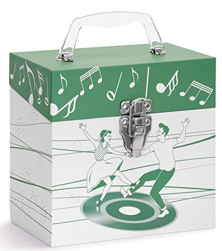 Vinyl Record Storage CASE. 45 Records Storage. Dancers Green. 45-RPM 7 inch Record case. Holds Up to 50 45rpm. Vinyl Record Holder. Record Carrying Case