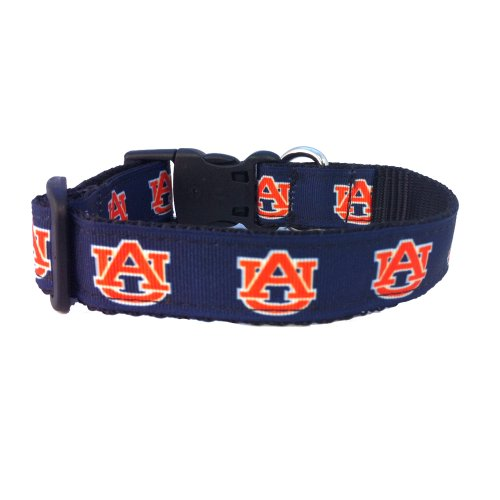 NCAA Auburn Tigers Dog Collar (Team Color, Medium)