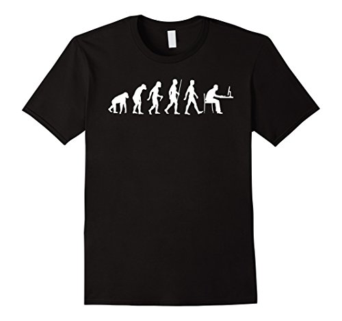 Evolution of Man Computer: Geek, Programmer T-shirt - Male Medium - Black - Computer Programmer