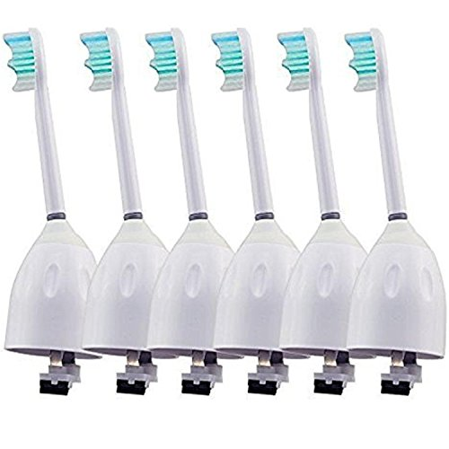 6 Generic Philips Sonicare E-Series Electric Toothbrush Replacements Fits Advance Essence Elite Cleancare Xtreme Alayna E Series Replacement Brush Heads