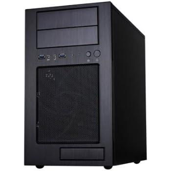 Silverstone Tek Micro-ATX Mini-DTX, Mini-ITX Mid Tower Computer Case with Aluminum Front Panel and Steel Body TJ08B-E - Black
