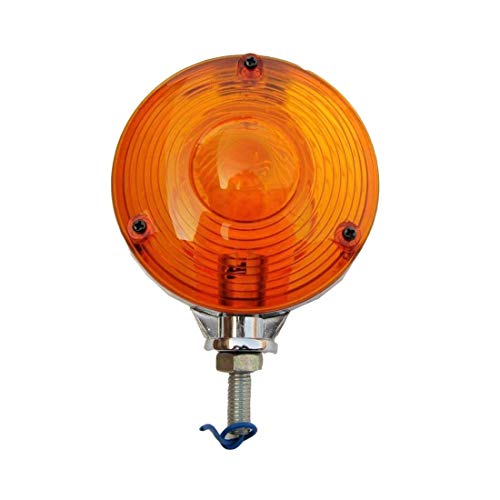Warning Hazard Indicator Lamp Light Red Amber 12V Chrome Frame Tractor Truck Trailer - 11002902