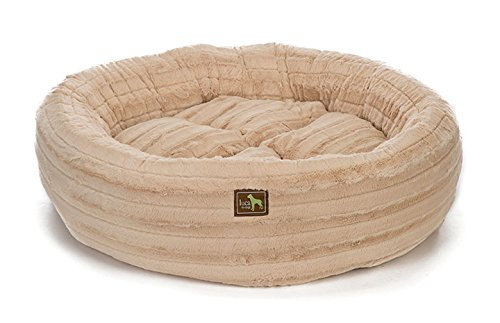 Luca For Dogs Nest Dog Bed, Small 26''x26''x7'', Chinchilla Camel by Luca for Dogs