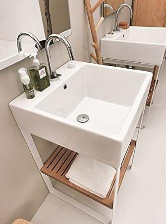 Colavene Waschbecken 45 x 50 aus Keramik auf Struktur aus ...