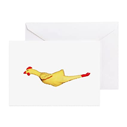 Amazon Cafepress Rubber Chicken Greeting Card Note Card