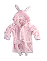 JUBILATE Unisex-Baby Winter Soft Hooded Animal Bathrobe 0-5Y