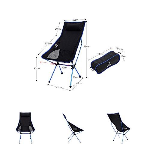 (Hli-SHJHsmu Light Weight Portable Folding Chair Outdoor Chair for Camping Fishing Hiking (Dark Blue))