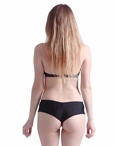 0b7da72ddc HDE Women s Cheeky Brazilian Bikini Bottom Solid Hipster Boy Short Swimsuit  (Black